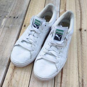 Puma Basket Classic Leather White Sneakers
